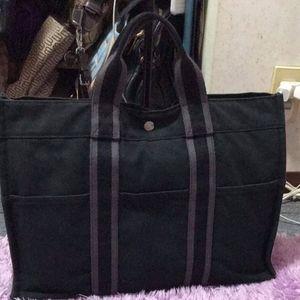 SOLD SOLD SOLD!!!Pre Loved Hermes Canvas Handbag